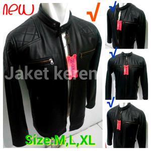 harga Jaket semi kulit pria david beckham/jaket motor asli garut jk-48 Tokopedia.com