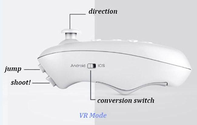 harga Vr gear box bluetooth remote gamepad smartphone joystick controller Tokopedia.com