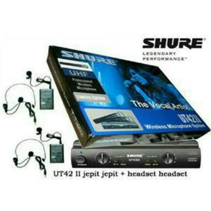 harga Mic wireless shure ut42ii ut 42 ii (clip on + headaet) Tokopedia.com