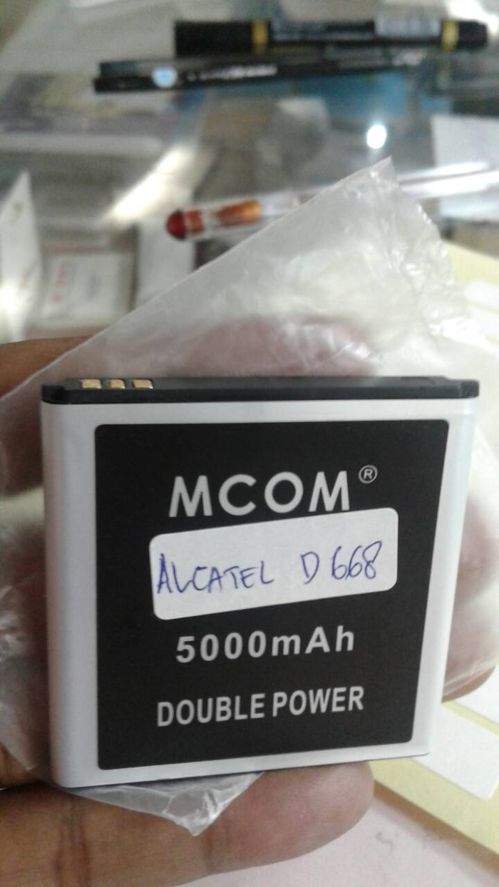 baterai alcatel one touch d668 double power mcom