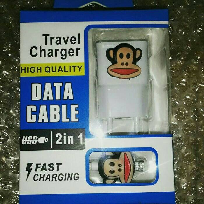 harga Charger karakter monyet paul frank termurah 2a Tokopedia.com