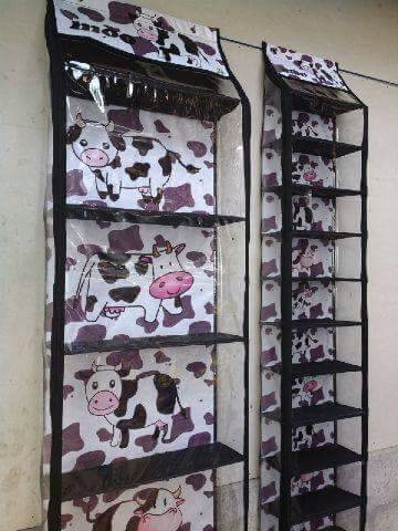 harga 1 set rak tas dan rak sepatu motif ziper Tokopedia.com