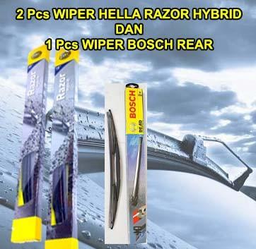 harga Wiper hella razer hybrid x-trail 07-14 3pcs (kn-kr dan blkg) original Tokopedia.com