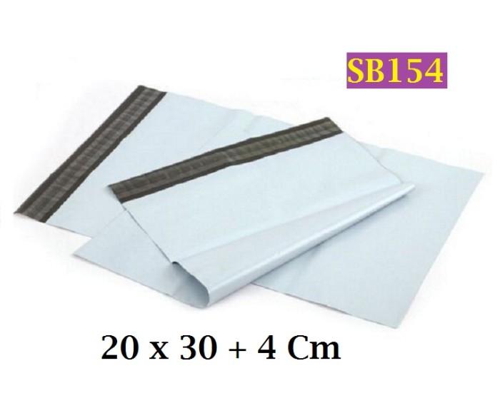 Foto Produk Amplop Plastik Shipping Mail Bag 20 x 30+4cm White Poly Mailer - SB154 dari Helfia Store