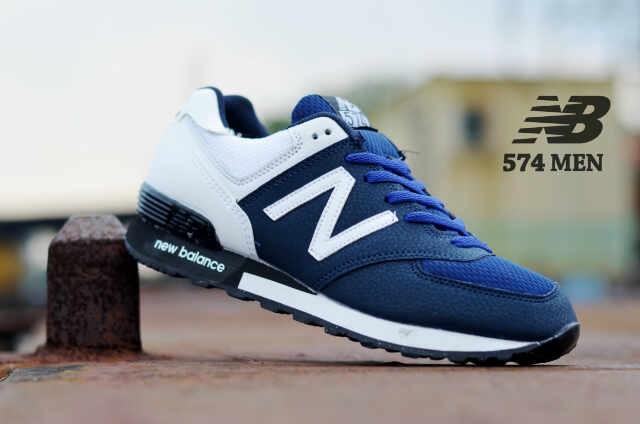 Jual sepatu new balance nb 574 sporty man navy putih cek harga di ... b0e48b4d68