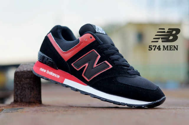 ... harga Sepatu new balance nb 574 sporty man hitam merah Tokopedia.com 5a3cdd7b6d