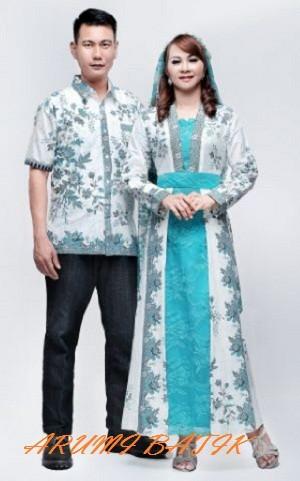 harga Sarimbit pasangan keluarga gamis maxi long dress batik 1596 tosca Tokopedia.com