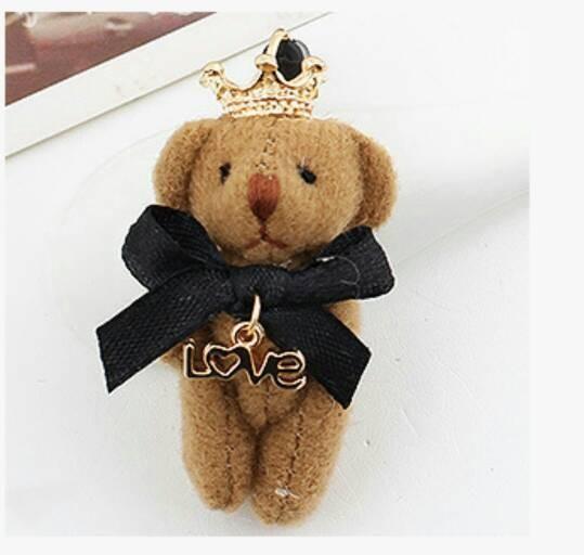 harga Korean teddy bear brown pluggy / dustplug / gantungan hp / kp03 Tokopedia.com