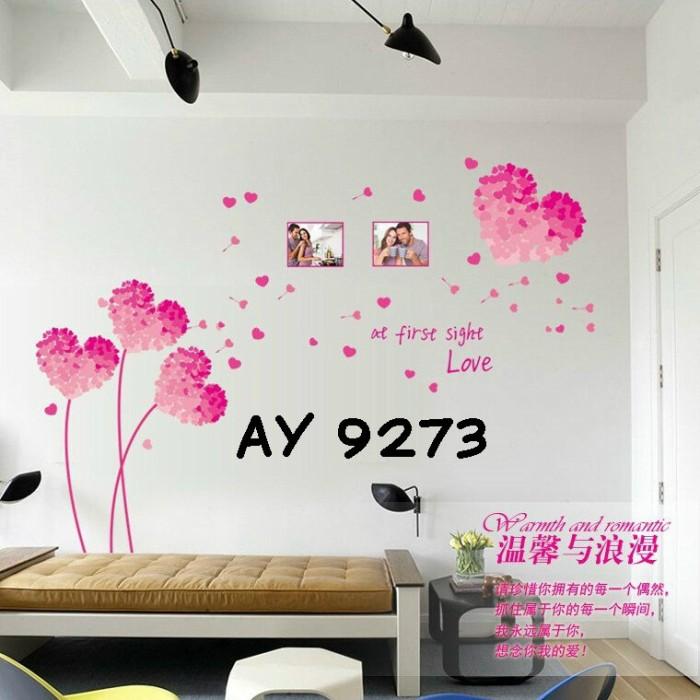 jual wall stiker uk.60x90 wall sticker dinding pink love - kota