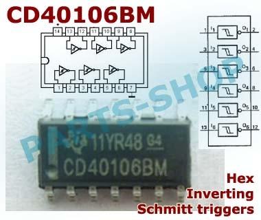 Jual smd CD40106 CD40106BM CMOS Hex inverting schmitt trigger 40106 SOP-14  - Kota Semarang - parts-shop | Tokopedia