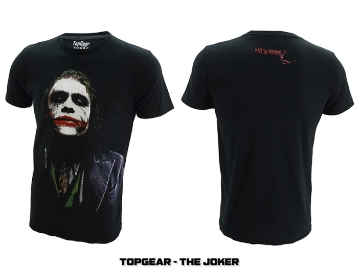 harga T-shirt / baju / kaos superhero topgear the joker Tokopedia.com