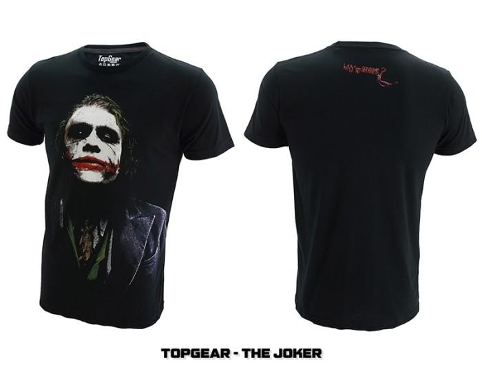 harga T-shirt / baju / kaos superhero topgear the joker Tokopedia.com
