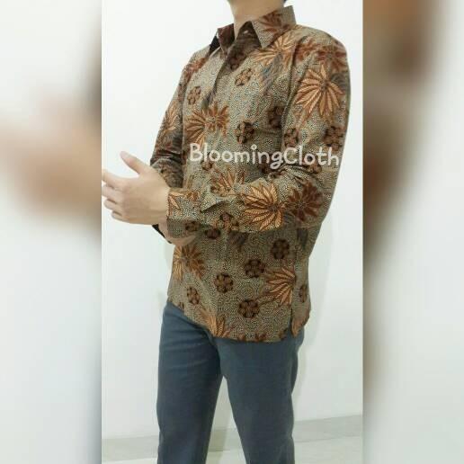Jual Baju batik pesta lengan panjang modern fashion
