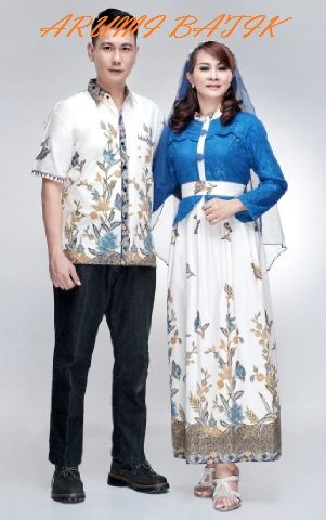 harga Sarimbit pasangan keluarga gamis maxi long dress batik 1603 biru Tokopedia.com