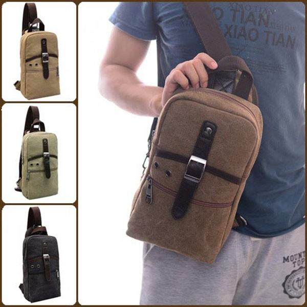 harga Sling bag square tas selempang tas kanvas pria wanita tablet earphone Tokopedia.com