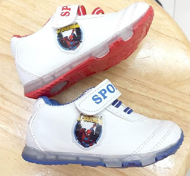 harga Sepatu lampu nyala anak bayi baby light shoes spiderman children led Tokopedia.com