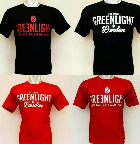 kaos distro/t-shirt/t shirt/tshirt/kaos GREEN LIGHT