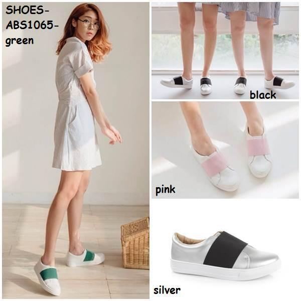 Sepatu wanita selop loafer sneaker sporty flat heel shoes korea import