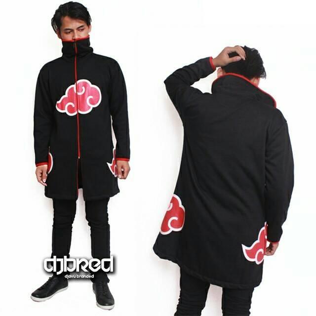 harga Jaket jubah anime naruto akatsuki black Tokopedia.com