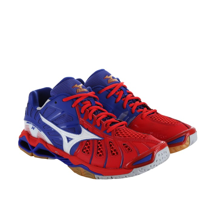 SEPATU VOLLY MIZUNO WAVE TORNADO X - HIGH RISK RED ( 100% ORIGINAL ) 2e06f23846