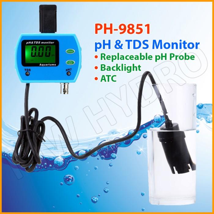 harga Online ph & tds monitor / meter [ph-9851] Tokopedia.com
