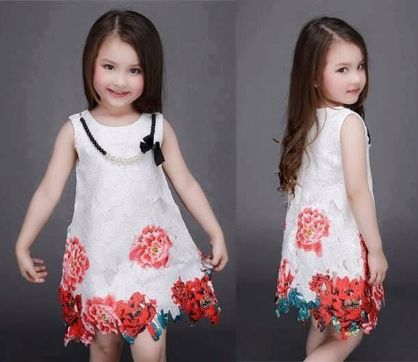harga Dress anak brukat variasi flowers+kalung- rsby-1707 Tokopedia.com