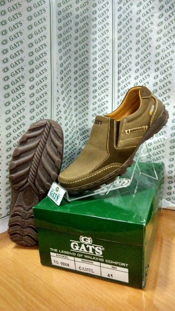 Sepatu casual pria keren terbaru gats ori camel murah