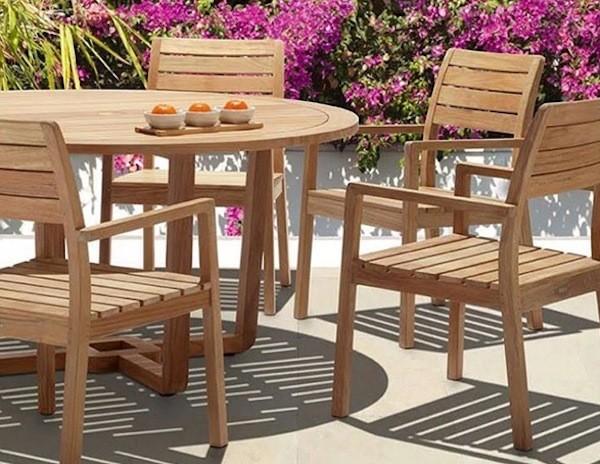 Bar Height Glass Table, Jual Teak Outdoor Dining Chair Australia Set Kab Jepara Makmur Barokah Furniture Tokopedia