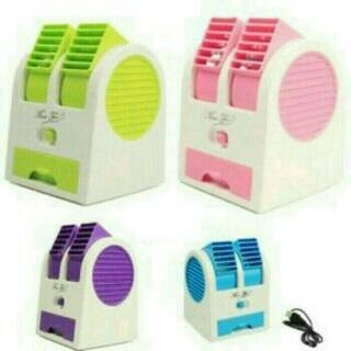 harga Ac mini portable double fan/blower Tokopedia.com