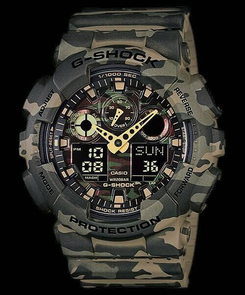 Jual Jam Tangan Casio G-Shock Original GA-100CM-5 G-Shock Army ... 44b594068d