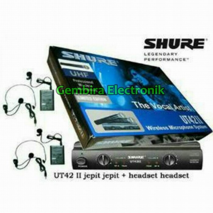 harga Mic wireless shure ut 42 ii (clip on + headset) Tokopedia.com