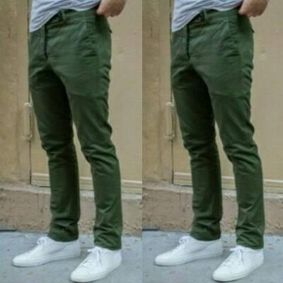 63+  Celana Chino Dark Green Terbaru Gratis