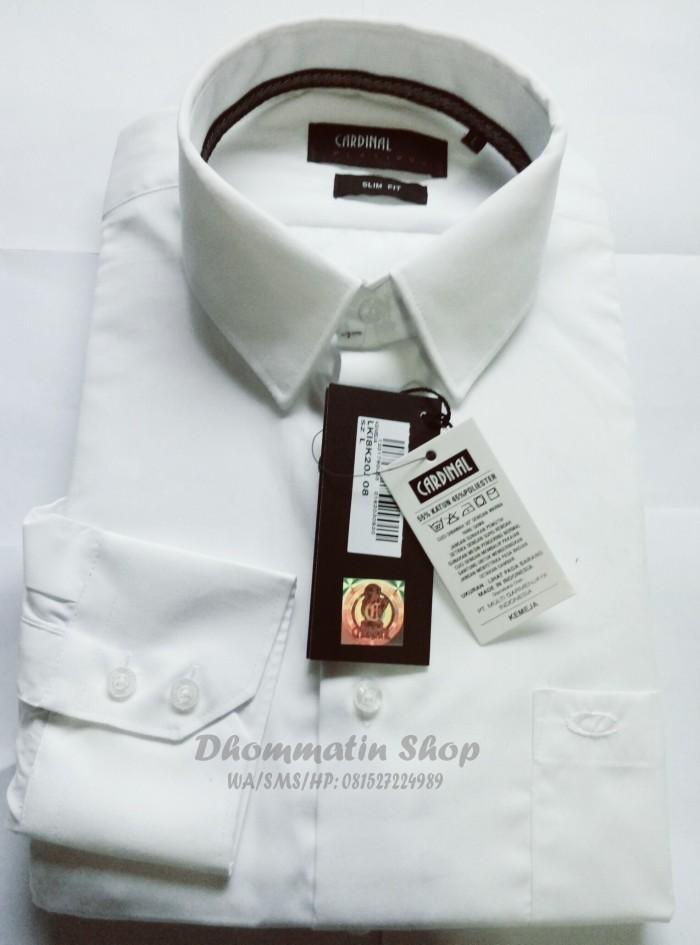 Kemeja Slim Fit Formal Kantor Putih Polos - Merk Cardinal (Original) ff08979f53