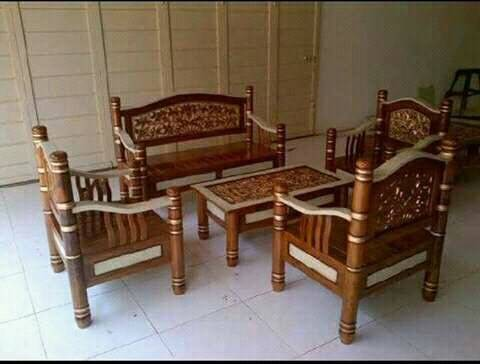 Jual Kursi Bambu 2111 Meja Kab Jepara Dj Karya Furniture Tokopedia