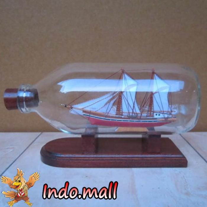 harga Miniatur kapal layar pinisi dalam botol kado souvenir unik handmade Tokopedia.com
