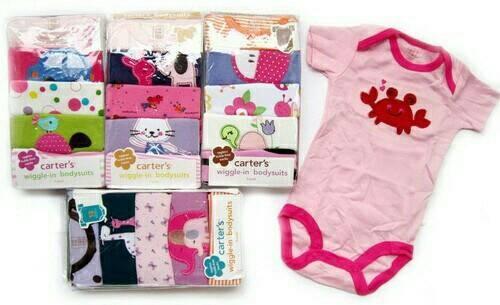 carter jumper / baju perempuan newborn (isi 5 pcs)