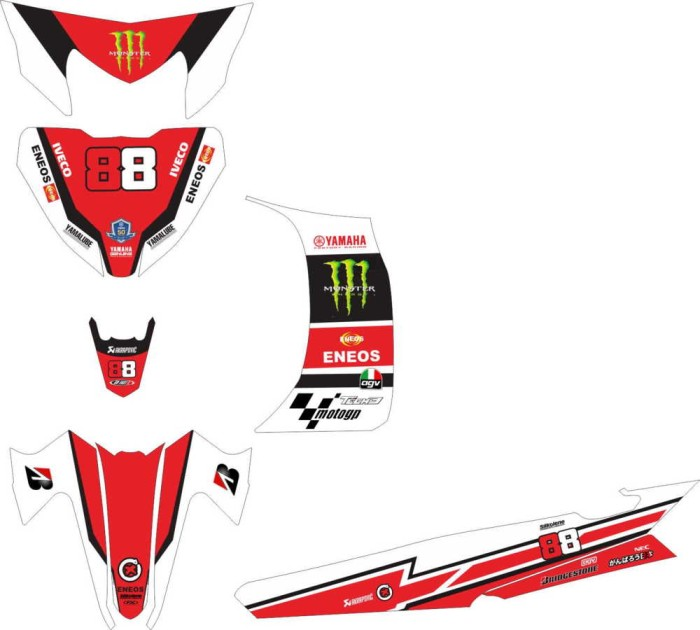 Jual Modifikasi Stiker Yamaha Vega Zr Monster Energy Spec A