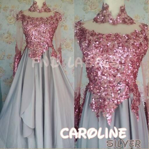 Jual Caroline Silver Kebaya Modern Gaun Kebaya Kebaya Wisuda Prewed