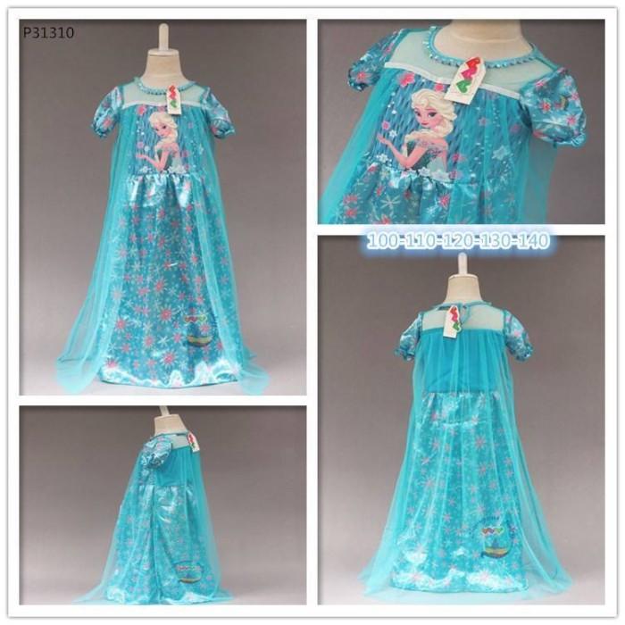 P31310 BLUE ELSA LONG DRESS