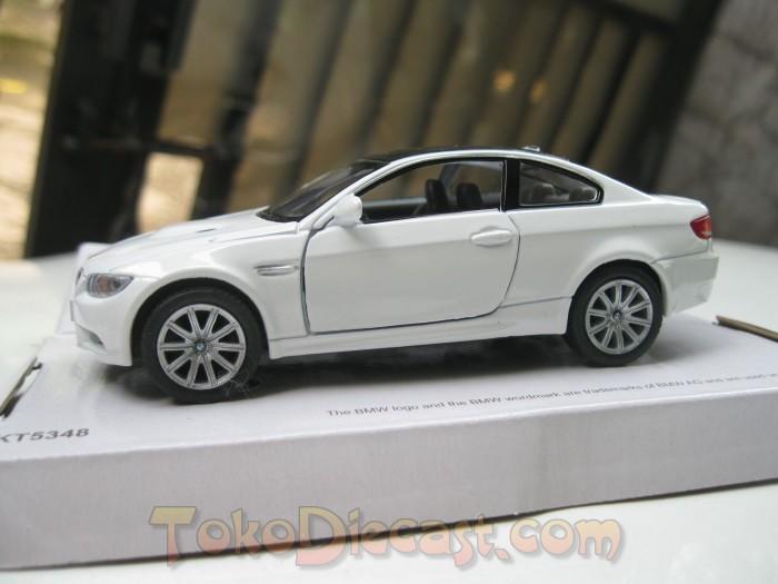 Jual Miniatur Mobil Bmw M3 Putih Kinsmart 1 32 Pojok Diecast