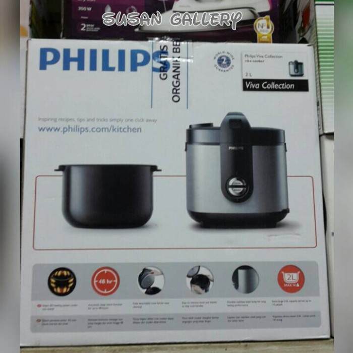 Jual Philips Rice Cooker Hd 3128 33 Stainless Steel