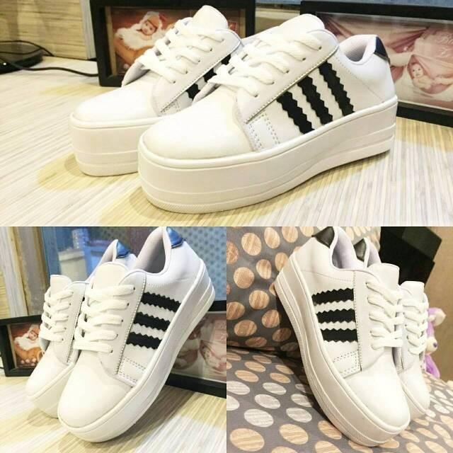 info for 024e8 2b104 ... canada sepatu platform murah wanita cewek adidas superstar twelve 12  2f7e3 38287