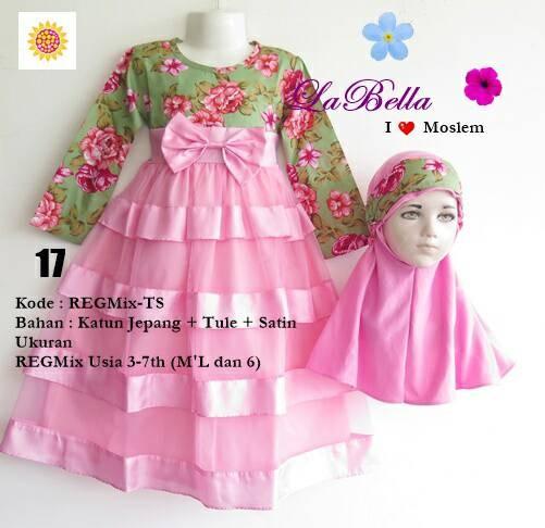 Jual Dress Baju Muslim Gamis Anak Lucu Murah Labella 3-4 tahun ... c6bad9770a