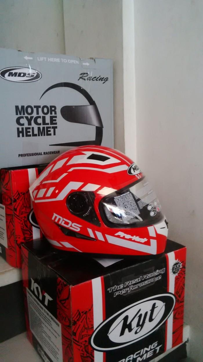 harga Helm mds provent red white full face visor fullface merah Tokopedia.com