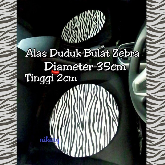 Foto Produk Alas duduk Jok Mobil Zebra dari Nikitty