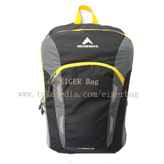 ... Tas Eiger 2379 R Kalimera 21L Hitam Kuning Daypack Ransel Sekolah