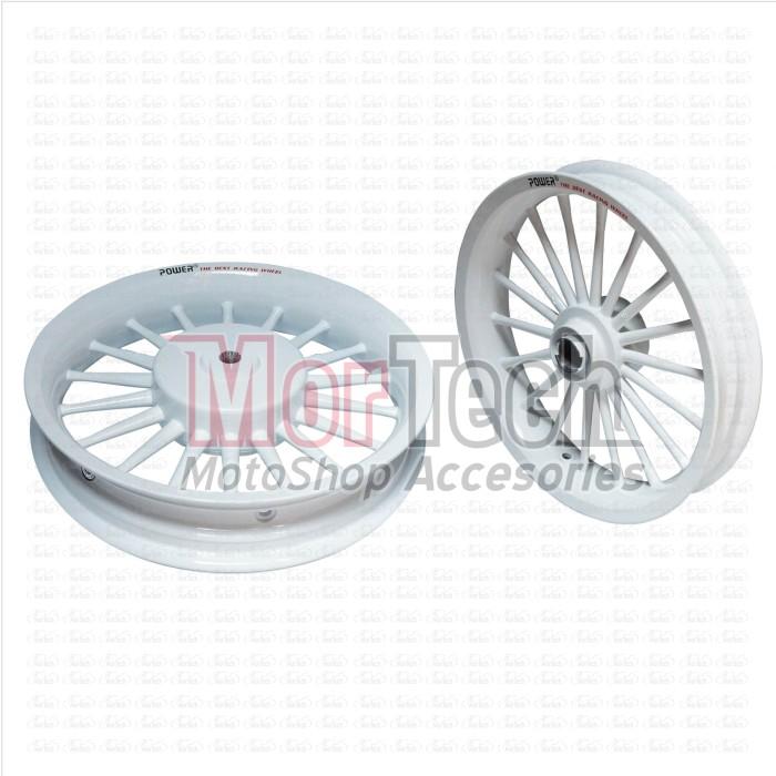 harga Velg pelek racing lebar power classic mio fino 125 cc palang 18 putih Tokopedia.com