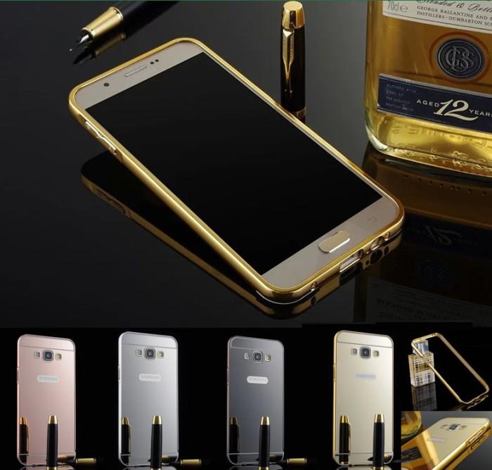 Silver Tempered Glass Source · Bumper Mirror Case Samsung Galaxy A5 2015 Lama .