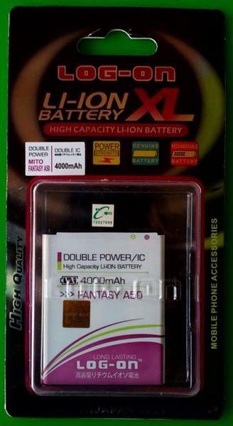 Baterai/battery logon double power mito a50 fantasy