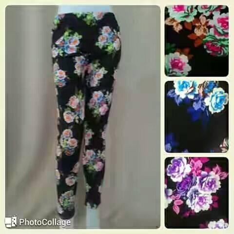 Jual Celana Legging Motif Bunga Jakarta Timur Cakung Collection Tokopedia